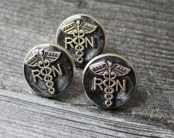 registered nurse pin, RN pinning ceremony, white coat ceremony, graduation gift, black