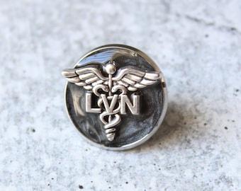 licensed vocational nurse pin, LVN pinning ceremony, white coat ceremony, black