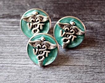 veterinarian technician pin, vet tech gift, lapel pin, pinning ceremony, white coat ceremony, VT pin, bright green