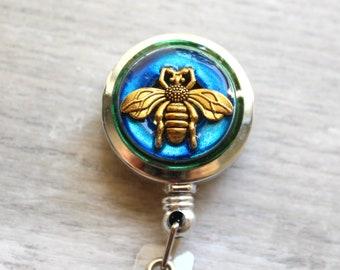 bee ID badge reel