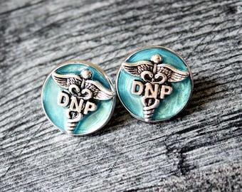 Doctor of nursing practice pin, DNP pinning ceremony, nurse graduation gift, white coat ceremony, sky blue