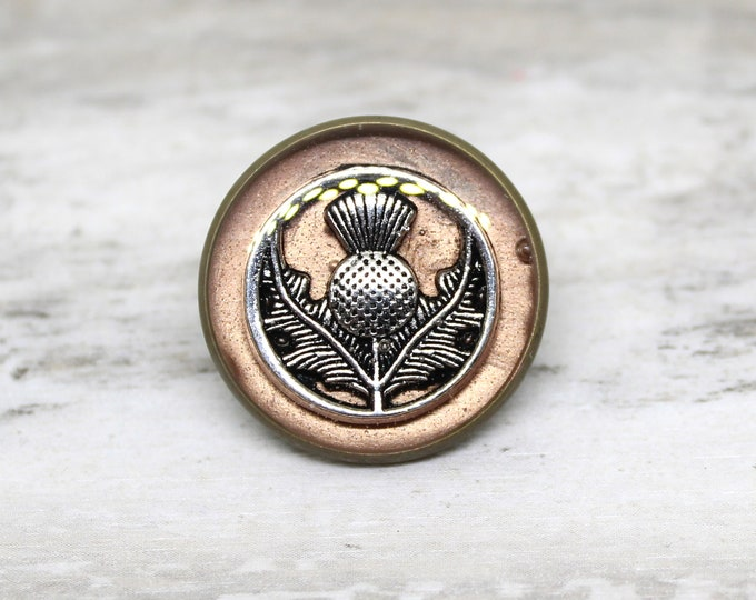 Scottish thistle lapel pin
