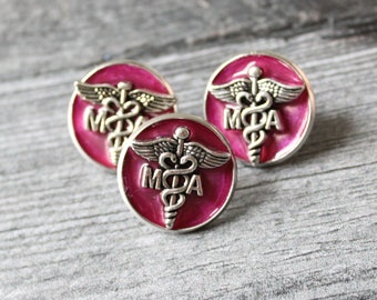 medical assistant pin, MA pinning ceremony, white coat ceremony, MA lapel pin, graduation gift, pink