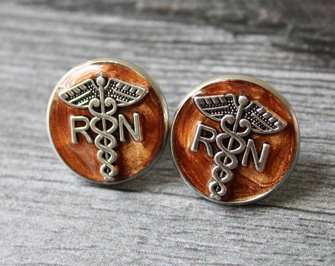 registered nurse pin, RN pinning ceremony, white coat ceremony, graduation gift, bronze