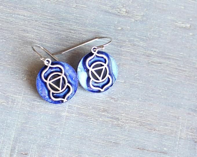 Ajna third-eye sixth chakra dangle earrings