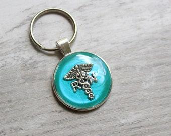 registered nurse keychain, RN keyring