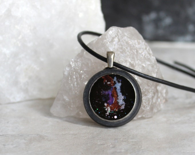birth of a star necklace, galaxy jewelry, outer space pendant, celestial body, boyfriend gift, unique gift, mens jewelry, mens necklace