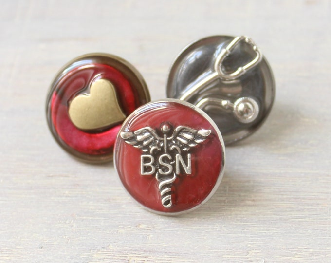 Bachelor of Science nursing pin, BSN pinning ceremony, gift set