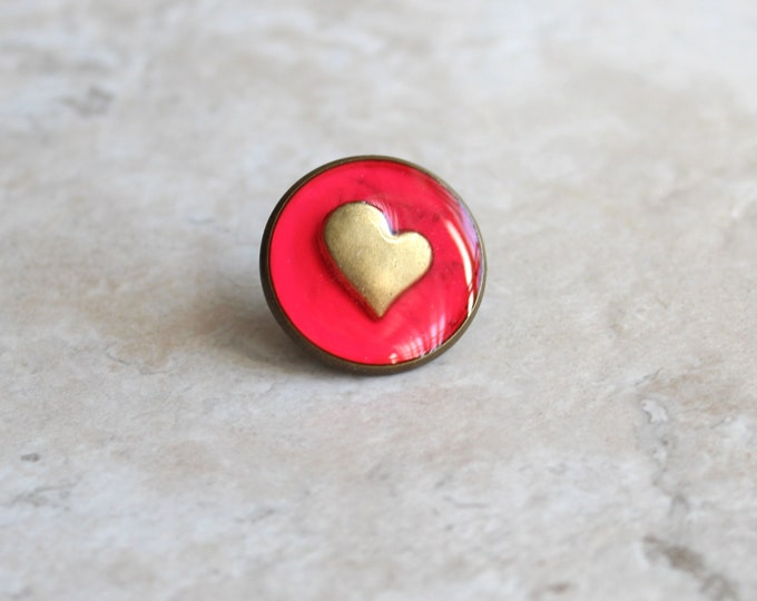 hot pink heart lapel pin, heart tie tack, mens jewelry, valentine gift, anniversary gift, unique gift, heart jewelry, wedding jewelry