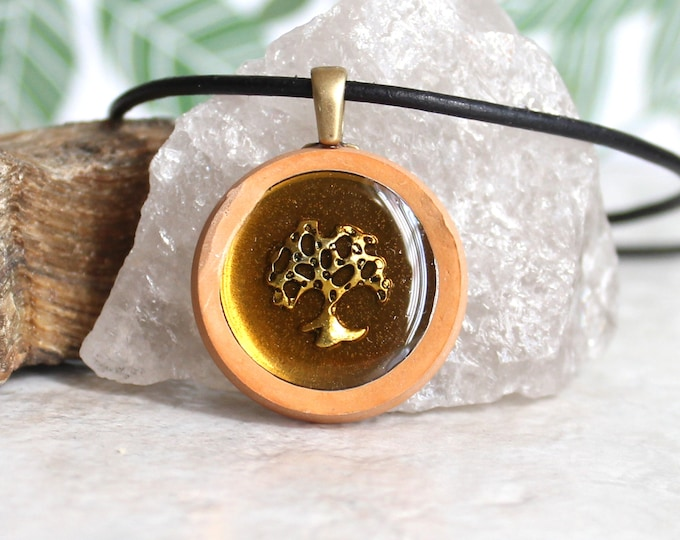 oak tree necklace, nature necklace, mens jewelry, mens necklace, unique gift, boyfriend gift, wiccan jewelry, tree pendant