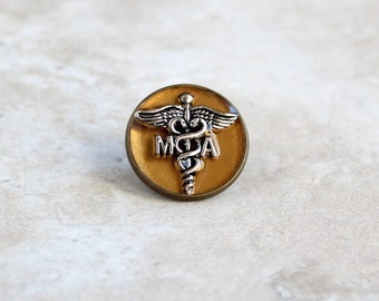 gold medical assistant pin, MA pinning ceremony, MA graduation gift, white coat ceremony, medical assistant gift