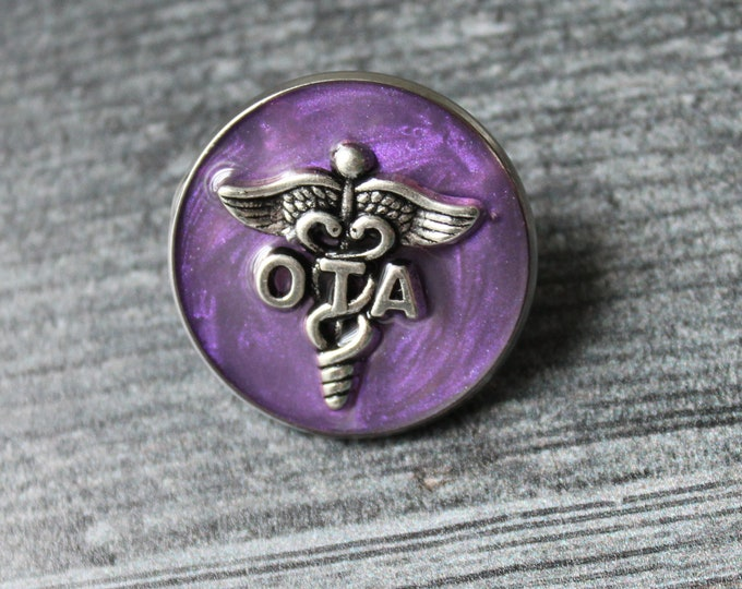 occupational therapy assistant pin, OTA pinning ceremony, white coat ceremony, occupational therapist aide, heather purple, large