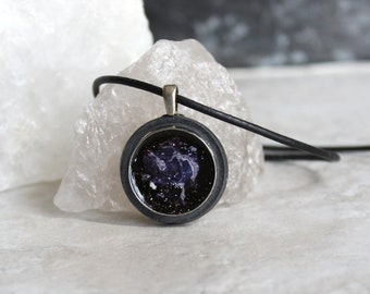 nebula necklace, galaxy jewelry, outer space pendant, science jewelry, unique gift, space exploration, boyfriend gift