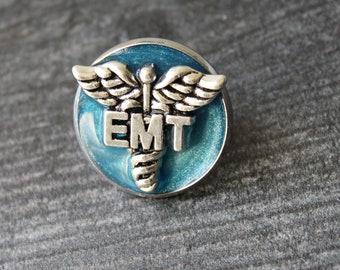 emergency medical technician pin, EMT pinning ceremony, graduation gift, blue