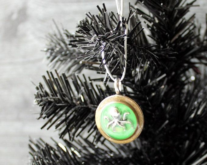 octopus ornament, ocean themed Christmas tree ornament
