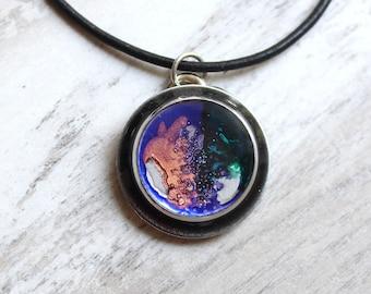 galaxy necklace, celestial jewelry