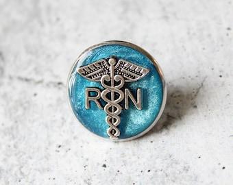 registered nurse pin, RN pinning ceremony, white coat ceremony, graduation gift, blue