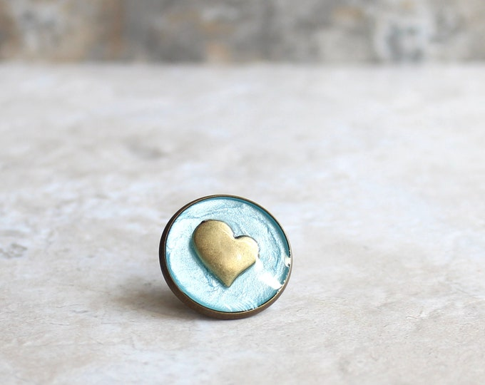 ice blue heart lapel pin, heart tie tack, mens jewelry, valentine gift, anniversary gift, unique gift, heart jewelry, wedding jewelry