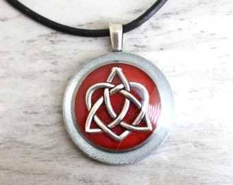 wine Celtic sister knot necklace, best friend jewelry