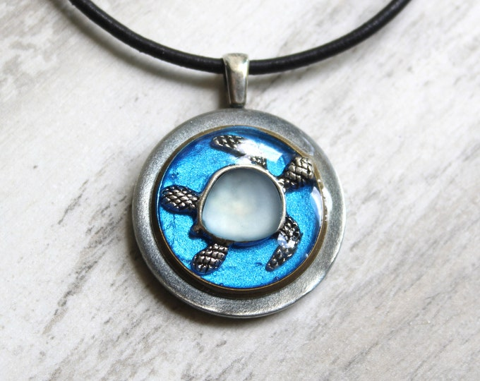 turtle necklace, sea turtle