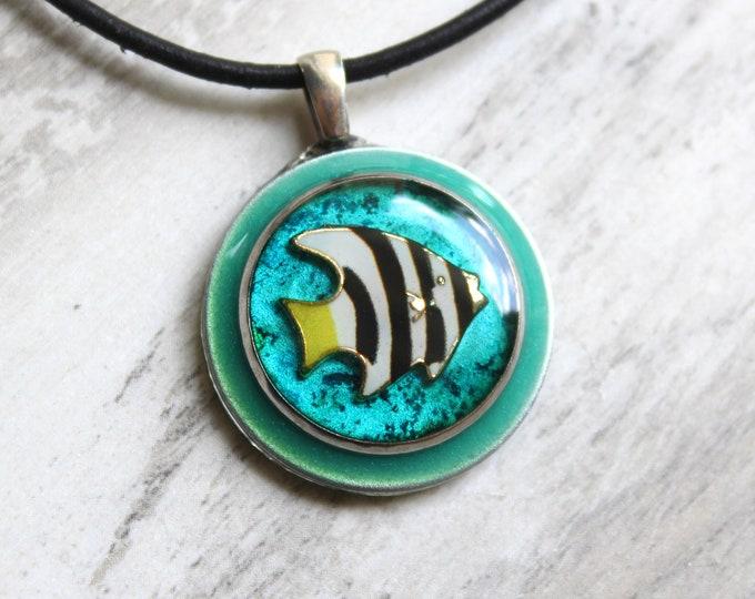 angelfish necklace, fish jewelry