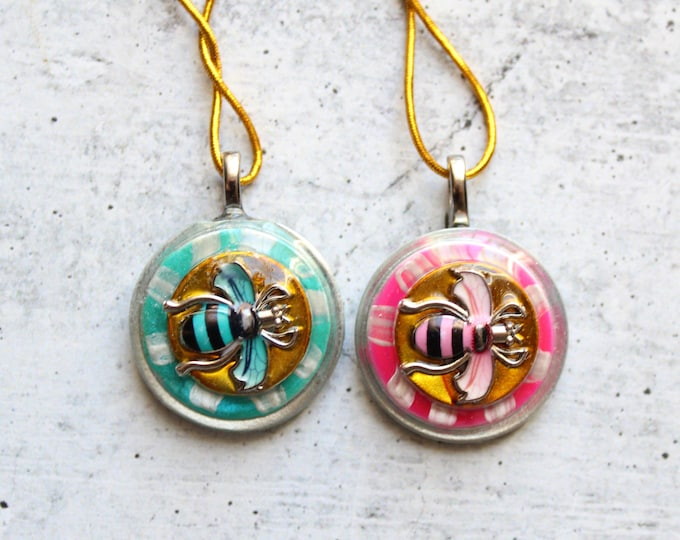 bee tree ornament, set of 2, table top Christmas tree ornament