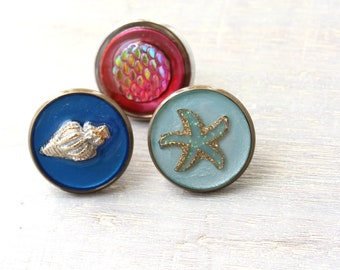 ocean lover set of 3 lapel pins