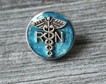 registered nurse pin, RN pinning ceremony, white coat ceremony, graduation gift, blue