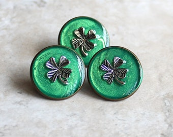 four leaf clover pin, st patricks day, lapel pin, tie tack, clover jewelry, unique gift, irish jewelry, mens gift, mens jewelry, good luck