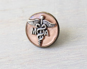 medical assistant pin, rose gold, MA pinning ceremony, white coat ceremony