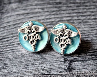 occupational therapy assistant pin, OTA pinning ceremony, white coat ceremony, occupational therapist aide, sky blue