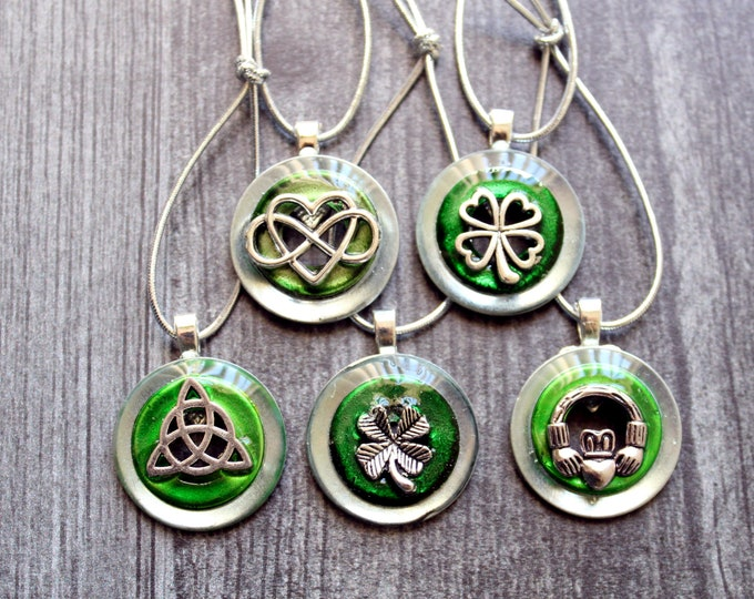 Ireland ornaments, set of 5, table top tree ornaments, spring tree decorations, miniature tree, St. Patrick's Day, Celtic tree ornaments