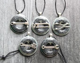 tool set ornaments, set of 5, table top tree ornaments, miniature tree, home improvement