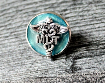 Medical Lab Technician pin, MLT pinning ceremony, white coat ceremony, sky blue