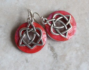 rose Celtic sister knot earrings, Celtic jewelry, sister gift, friendship jewelry, unique gift, druid jewelry, wiccan earrings