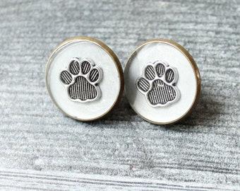 paw pin, paw print lapel pin, silver gray, animal paw, unique gift, dog paw, cat paw