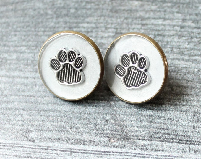 paw pin, paw print lapel pin, silver gray, animal paw, unique gift, dog paw, cat paw