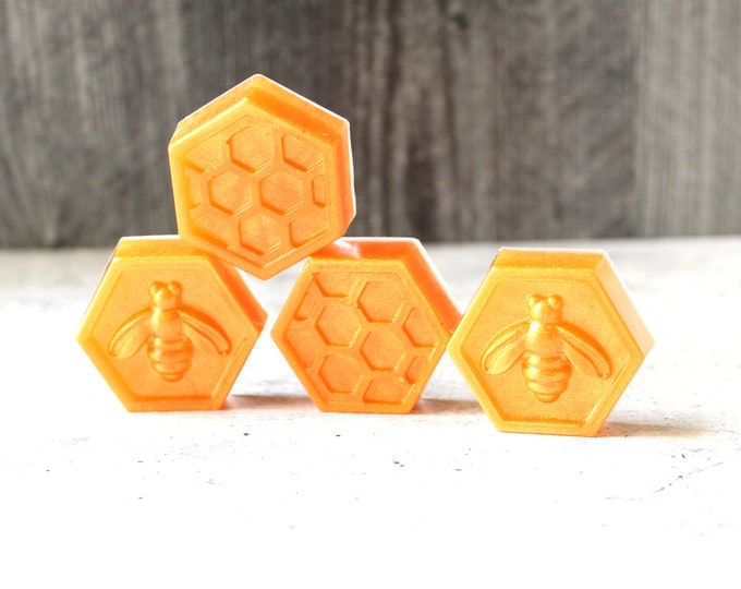 bee and honeycomb desktop decoration, tabletop decoration, unique gift, hostess gift, golden orange, party decor