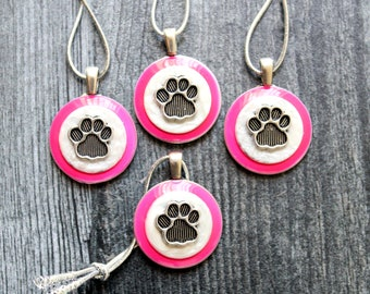 animal paw ornaments, set of 4, dog paw ornaments, mini tree, table top tree, dog lover, dog decor, cat paw ornaments