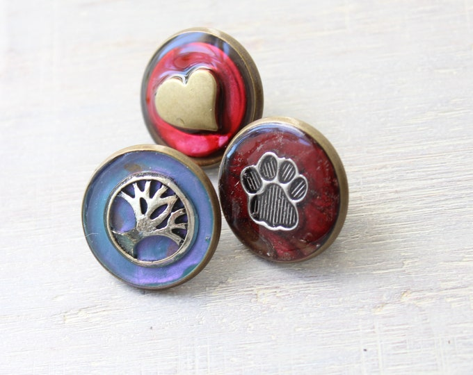 dog lover lapel pin gift set, set of 3, Valentine gift