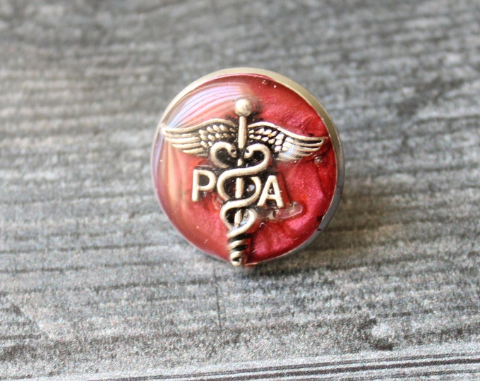 physician assistant pin, red wine, PA pinning ceremony, PA graduation gift, white coat ceremony