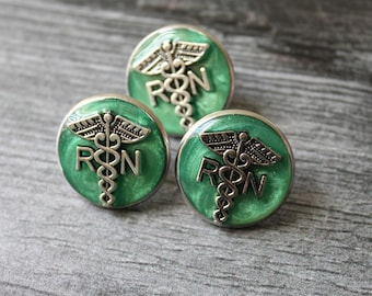 registered nurse pin, RN pinning ceremony, nurse graduation gift, white coat ceremony, graduation gift, aqua green