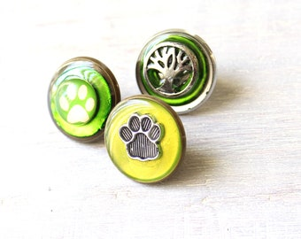 set of 3 dog lover pins, lapel pin, tie tack, dog paw, cat paw, animal paw, veterinarian pin, vet tech pin, unique gift