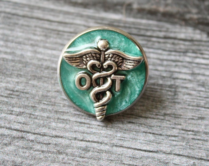 occupational therapy pin, OT pinning ceremony, white coat ceremony, occupational therapist, bright green