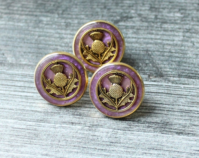 Scottish thistle pin, heather, lapel pin, tie tack, mens jewelry, unique gift
