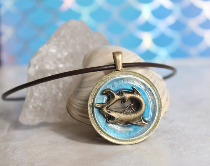 shark necklace, nature necklace, mens necklace, mens jewelry, boyfriend gift, unique gift, aloha jewelry, surfer necklace