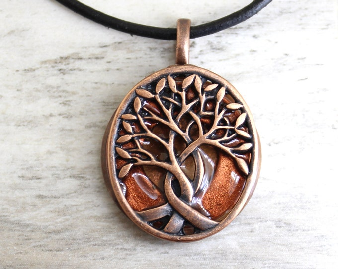 copper tree of life necklace, Celtic necklace, mens jewelry