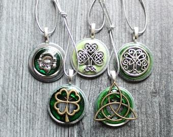 Ireland ornaments, set of 5, table top tree ornaments, spring tree decorations, miniature tree, St. Patrick's Day, Celtic tree ornaments