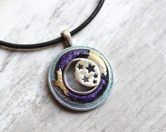 moon and stars necklace, celestial jewelry