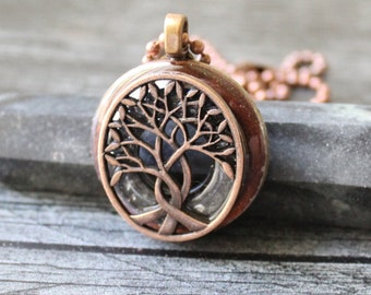 tree of life necklace, gray, celtic pendant, boyfriend gift, celtic tree, mens jewelry, mens necklace, unique gift, gift for him